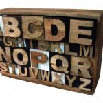 Vintage Alphabet Drawer Chest