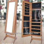 Antique Bamboo Mirrored Jewelry Cabinet with Classic Design