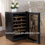 Refrigerated wooden wine cabinet