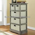 Living Room willow cabinet+4pcs of rush basket
