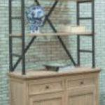 elm wood 2drawer 2door 3layer bookshelf with iron
