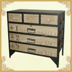 Shabby chic vintage wooden cabinet with 6 drawers