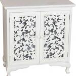 12EV1004 white mdf bedroom cabinet with 2 carved door shabby chic