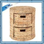 Exclusive Cheap Two layers Water Hyacinth Drawer Cabinet