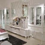 2014 living room furniture Y07 white cabinet