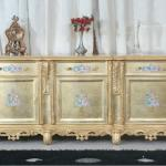 European Style handwork solid wood floor cabinet/TV Cabinet