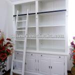 Library bookcase,ladder cabinet