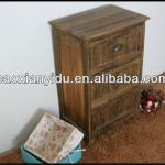 factory direct sales baking finish antique wooden storage cabinets with 3 drawers