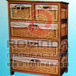Practical restoring ancient ways with storage basket wooden storage cabinet