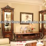 Popular luxury classical wood floor cabinet