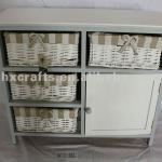 Wooden chest with willow drawers/wooden drawer