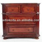 wooden storage cabinet with four drawers/4 drawer file cabinet/drawer cabinet