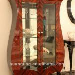 Classic antique wooden glass display cabinet in display showcase