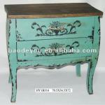 Vintage blue finish cabinet