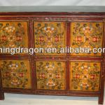 Chinese antique hand painted Tibetan cabinet