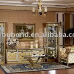 E16 living room golden antique high floor cabinet furniture