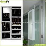 White color wall mounted jewellery storage mirror