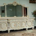 French style furniture - solid wood carved with leaf gilding