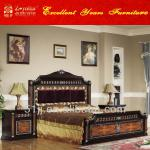 Middle East style black color bedroom furniture 044046