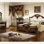 New arrival wooden color antique bedroom furniture