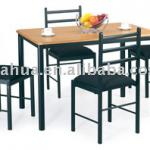 Metal Dining Table And Chair With Pad