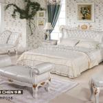 HP058 white leather bedroom furniture