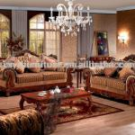 sofa wood carving living room furniture 596 (1+2+3)