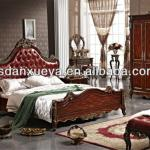 Hot Selling Royal Bedroom furniture leather bed TH01#