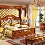 Factory Offer European Neo Classical Bedroom Set Bed with Bedscreen CDB-511#