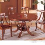 Azerbaijan round solid wood dining table T315&C303