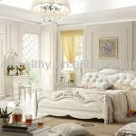 PU leather bedheadboard/carved wood and MDF bedroom set KT929