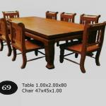 Good Teak solid wooden dining set table and chair from Thailand