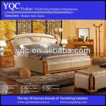 2013 Solid Wood Frame Leather Upholstered Bedroom Set 29266