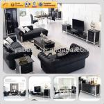 High gloss luxury italian living room set