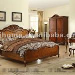 American style solid wood furniture bedroom set JK02