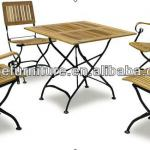 Patio garden teak table chair garden furniture / iron steel furniture BZ-DS009