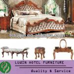 New 5 star hotel bedroom furniture & Antique Luxury bedroom furniture (LQ-C01)