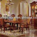 Best price antique dining table chair wooden furniture