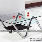 NewStart Furniture CF038/ New design chrome coffee table base glass