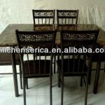 SF-1102-4 Steel/Wood Dining Set