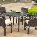 4pcs rattan used dining room furniture for sale