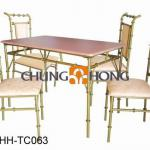 Natural Bamboo Dining Table And Chair
