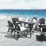 2013 modern outdoor garden furniture rattan dining sets-BZ-D004