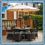 outdoor or indoor woven rattan modern dining set