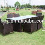 New design rattan dining room set/dining chairs and tables/rattan dining room furniture-OX-2298