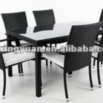 rattan dining furniture/dining table and chair/rattan dining room furniture