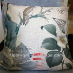 Chinese painting vintage imitation linen ptinted cushion cover wholesale YH027