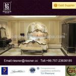 classic solid wood carve villa furniture bedroom E03-001