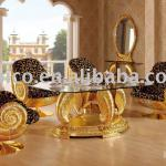 NEW ITEM- Luxury antique gold plated new style wooden dining room furniture set(B6048)-B6048