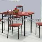 wood dining table and chairs DS-0840(1+4)